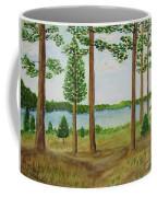 Camping At The Lake Coffee Mug