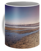 Carlsbad Low Tide Red Blue Sky Coffee Mug by Alison Frank
