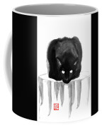 Cat On Wood Coffee Mug