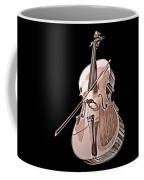 Cello String Music Instrument Musician Color Designed Coffee Mug