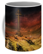 Celtic Cross Llanddwyn Island Coffee Mug