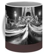 Chain Bridge At Night In Budapest Coffee Mug