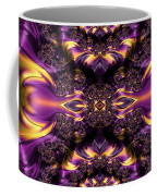 Chained Dragons Condemned  To Battle In Hells Fiery Furnace Fractal Abstract Coffee Mug by Rose Santuci-Sofranko