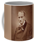 Charles Baudelaire, French Poet, Portrait Photograph  Coffee Mug