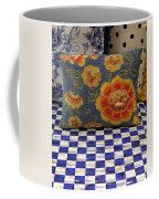 Checkerboard And Pillow Coffee Mug