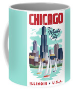 Chicago Poster - Vintage Travel Coffee Mug