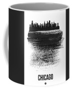 Chicago Skyline Brush Stroke Black Coffee Mug