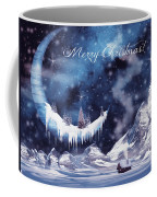 Christmas Card With Frozen Moon Coffee Mug