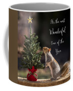 Christmas Squirrel Most Wonderful Time Of The Year Square Coffee Mug