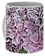 Chrysanthemum Abstract. Coffee Mug