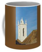 Church Bell Tower Behind Tiled Roofs In Tavira Coffee Mug