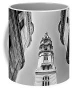City Hall In Center City Philadelphia In Black And White Coffee Mug