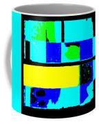 Cityscapec 4000 Original Fine Art Painting Digital Abstract Triptych Coffee Mug by G Linsenmayer