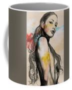 Cleansing Undertones - Zentangle Nude Girl Drawing Coffee Mug
