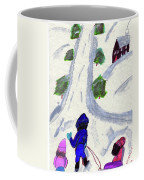 Climbing To The Top Of The Hill Coffee Mug