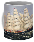 Clipper Ship Three Brothers, The Largest Sailing Ship In The World Published By Currier And Ives Coffee Mug