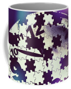 Clock Holes And Puzzle Pieces Coffee Mug