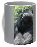 Close-up Shot Of Silverback Gorilla Making An Angry Face Coffee Mug
