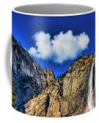 Clouds Abover Upper Yosemite Fall Coffee Mug