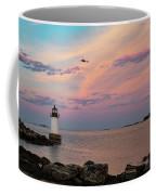 Coast Guard Rescue Over Winter Island Coffee Mug by Jeff Folger