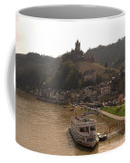 Cochem Castle, Town And River Mosel In Germany Coffee Mug