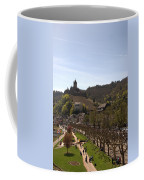 Cochem Main Street And Castle In Springtime In Germany Coffee Mug
