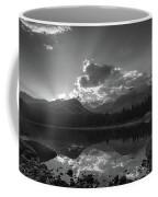 Colorado Mountain Lake In Black And White Coffee Mug