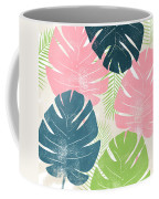 Colorful Palm Leaves 1- Art By Linda Woods Coffee Mug