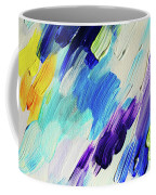 Colorful Rain Fragment 1. Abstract Painting Coffee Mug