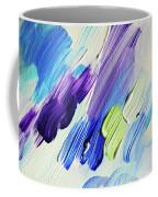 Colorful Rain Fragment 2. Abstract Painting Coffee Mug
