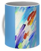 Colorful Rain Fragment 3. Abstract Painting Coffee Mug