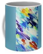 Colorful Rain Fragment 6. Abstract Painting Coffee Mug