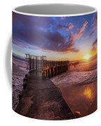 Colorful Sunset At Toes Beach Coffee Mug by Andy Konieczny