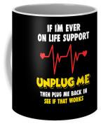 Computer Unplug Geek Pun Apparel Coffee Mug