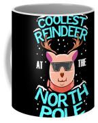 Coolest Reindeer At The North Pole Coffee Mug