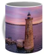 Cotton Candy Sunrise Over Whaleback Lighthouse  Coffee Mug by Michael Hughes
