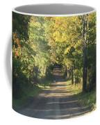 Country Road In Fall Coffee Mug