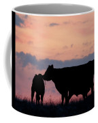 Cow And Calves After Sunset 01 Coffee Mug by Rob Graham