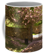 Crichton Church Entrance Gate And Tree In Pink Bloom Coffee Mug