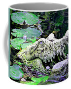 Crocodile Profile. Coffee Mug