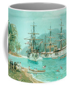 Cruiser And Gunboat Hoist On Ponape The German Flag Coffee Mug