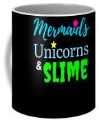 Cute Mermicorn Unicorn Mermaid Slime Birthday Coffee Mug