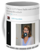Cutv News Radio Welcomes Back Dr. Victoria Mondloch Coffee Mug