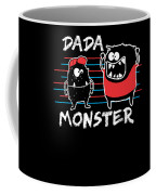 Dada Monster Cute Monster Cartoon For Kids And Dad Dark Coffee Mug