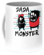 Dada Monster Cute Monster Cartoon For Kids And Dad Light Coffee Mug
