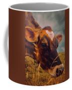 Dairy Cow Eating Grass Coffee Mug