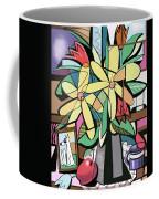 Daisy's And Tulips Coffee Mug by Anthony Falbo