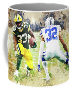 Dallas Cowboys Against Green Bay Packers. Coffee Mug