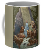 Daniel In The Den Of Lions  Engraving By Gustave Dore Coffee Mug