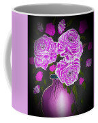 Dark And Delicious Roses In Pink Lilac Coffee Mug